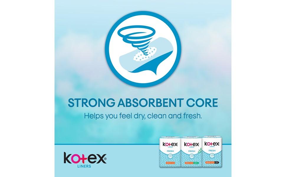 Kotex Fresh Liners - absorbent