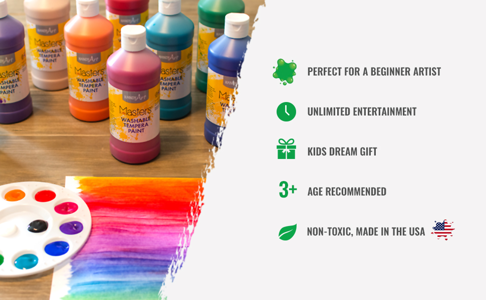 Beginner Artist, Unlimited Entertainment, Kids Dream Gift, Ages 3 and up, Non-toxic, Washable