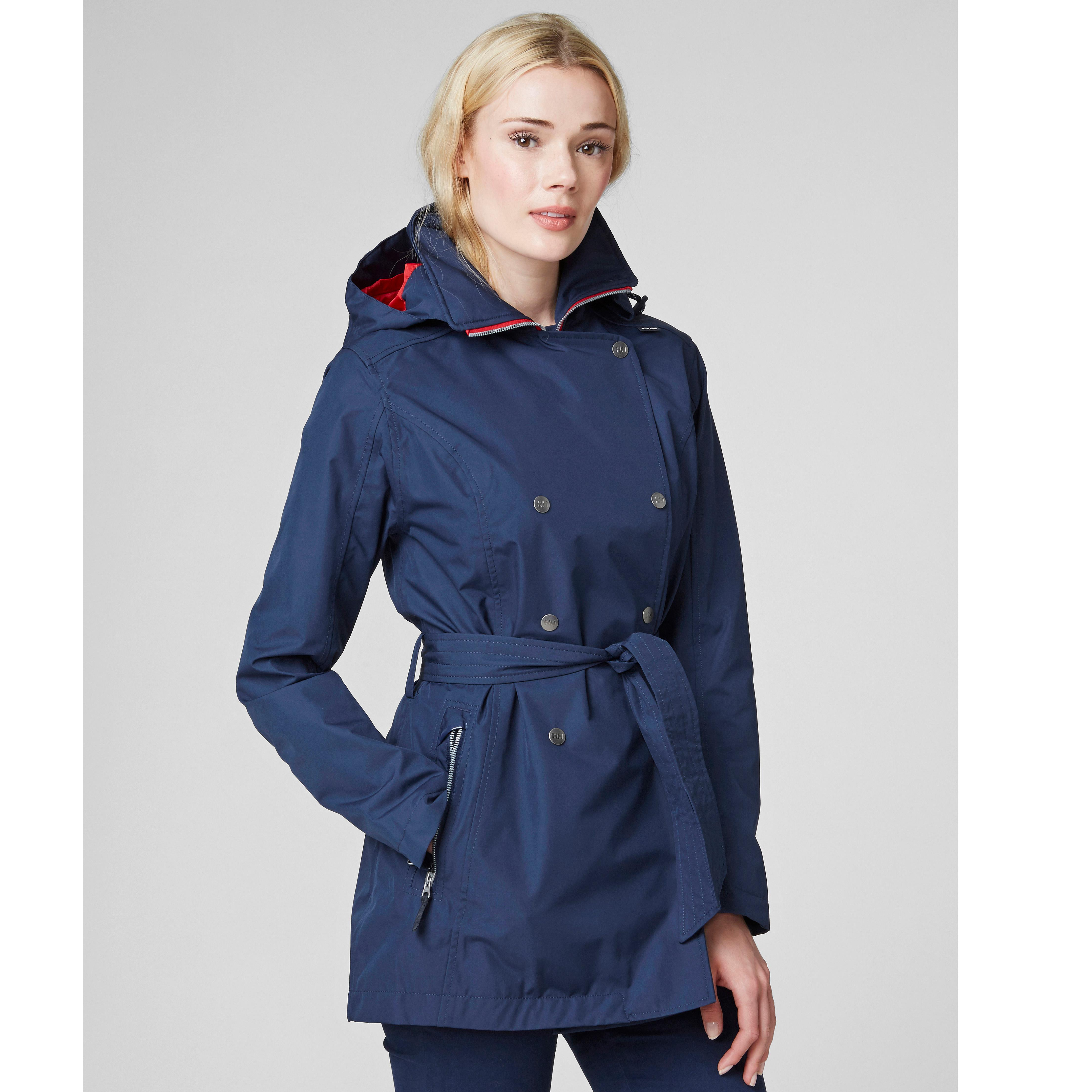 437131f1bc8a Amazon.com  Helly Hansen W Waterproof Welsey Trench Coat  Clothing