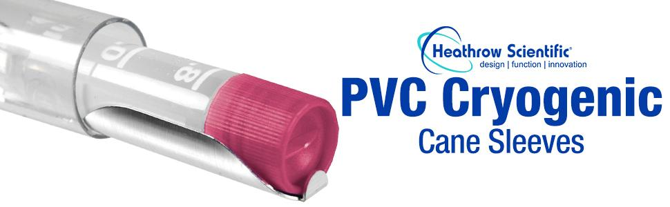 PVC Cryo Cane Sleves Cryogenic Heathrow Scientific Freezing durable clear plastic protect vials lab