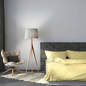 Etonnant Adesso Eden Wood Tripod Lamps