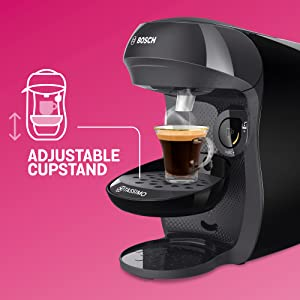 Bosch TAS1002 TASSIMO Happy Cafetera de cápsulas, 1400 W, color negro: Amazon.es: Hogar