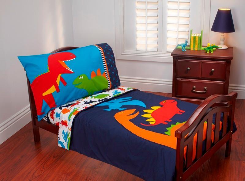 prehistoric pals 4piece toddler bed set