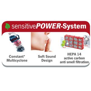 Severin MY 7118, Aspiradora multiciclónica de suelo sin bolsa, control de potencia variable, incluye cabezales para tapicería, parquet y cepillo ...