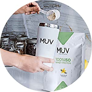 Muv Food For Action Iso Whey Protein Strawberry Flavour 1000 g