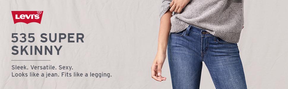 50d536e889da4 Levi's Women's 535 Super Skinny Jeans at Amazon Women's Jeans store