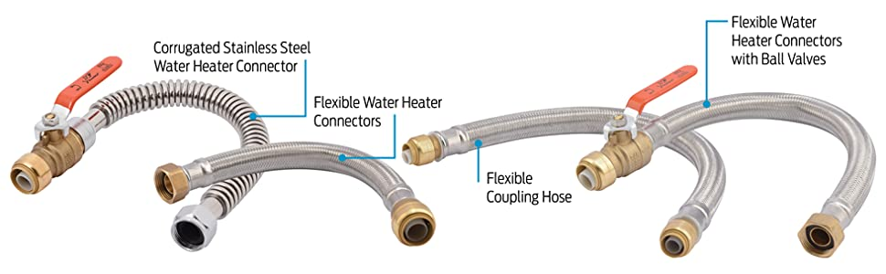 Sharkbite U3088flex18bvlf Flexible Water Heater Connectors