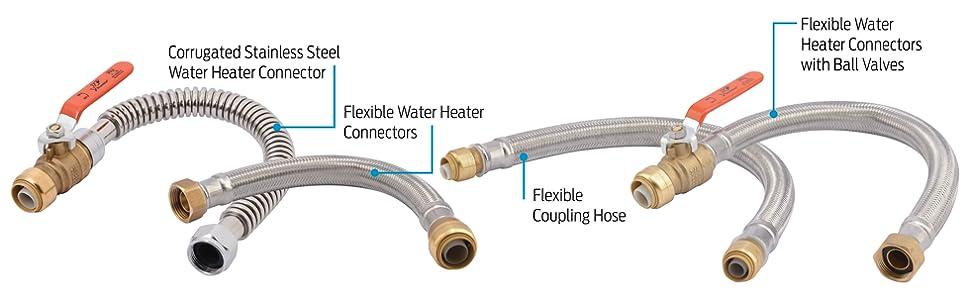 Sharkbite U3088flex18lf Flexible Water Heater Connectors