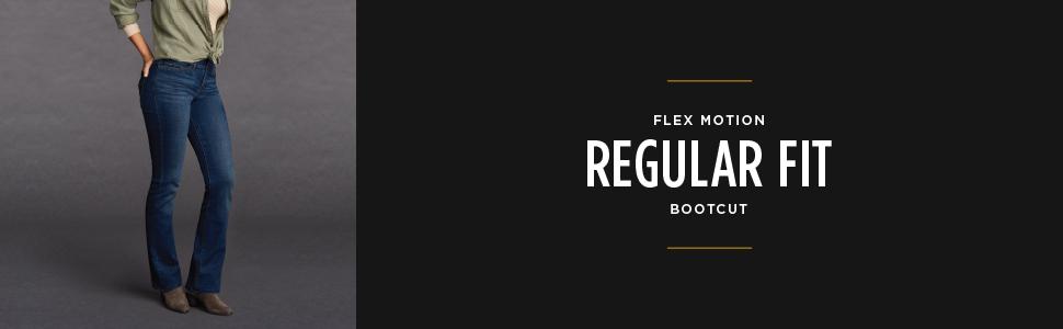 Flex Motion Regular Fit Bootcut Jean