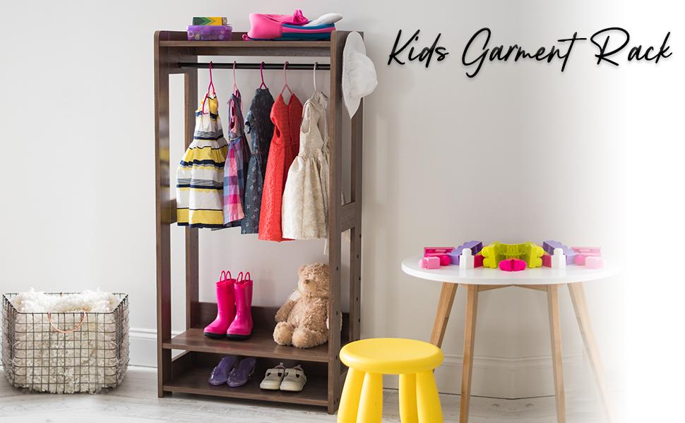 Iris Ohyama, Portant/Penderie à vêtements / Porte-manteaux pour enfants multifonctionnel