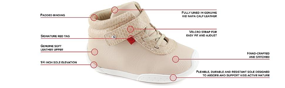 Kids, sneaker, leather