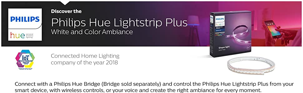 cbaed457a47 Amazon.com  Philips Hue White and Color Ambiance LightStrip Plus ...
