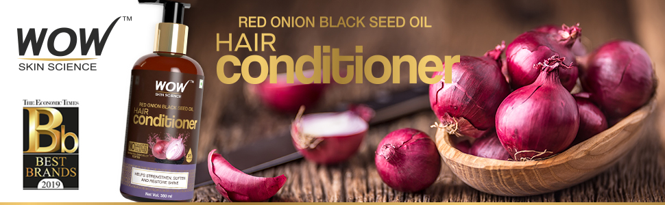 WOW Skin Science Red Onion Black Seed Oil Conditioner – 300 ml