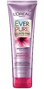 Ever, sulfate free, color treated, loreal, shampoo