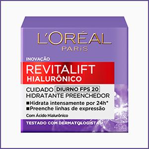 revitalift, hialuronico, poder do acido, acido hialuronico, novo revitalift, diurno