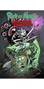 d&d rick and morty dungeons and dragons cover collection idw graphic novel cartoon network oni