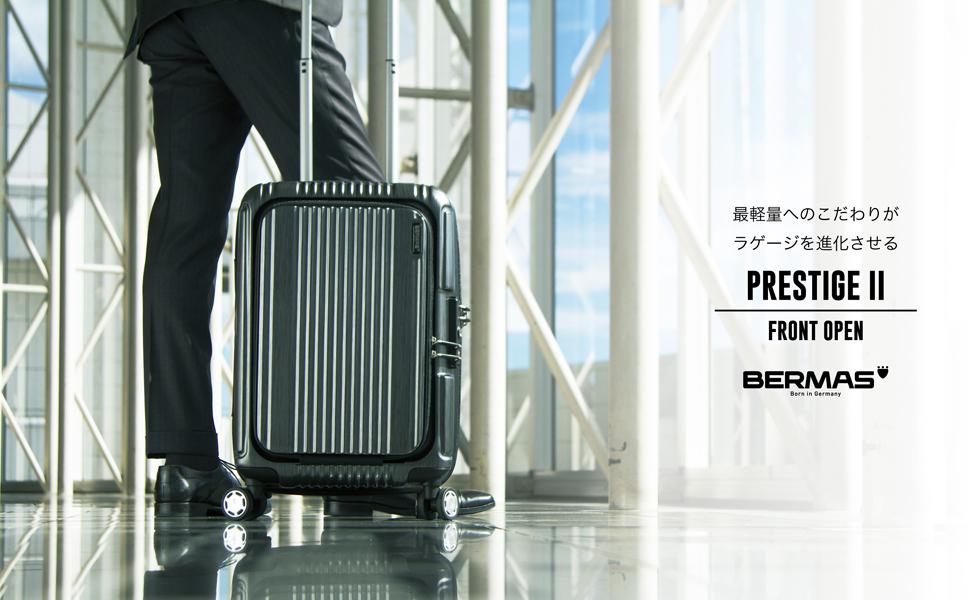 [BERMAS バーマス] スーツケース ジッパー プレステージ2 双輪