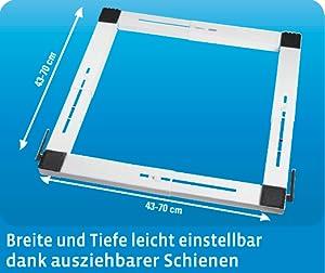 xavax transportroller f r waschmaschine trockner und sonstige gro ger te bis 300 kg ausziehbar. Black Bedroom Furniture Sets. Home Design Ideas