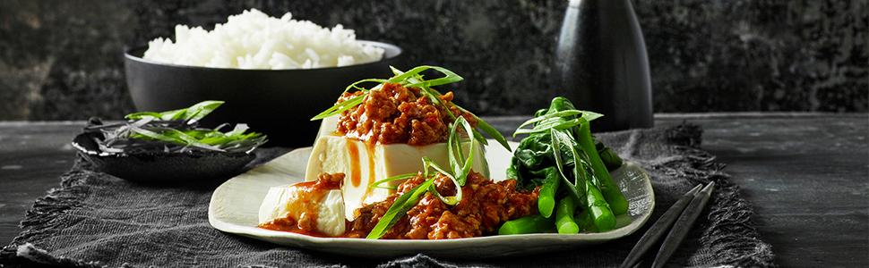 rice and tofu