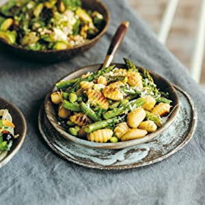 gnocchi salad with asparagus and peas