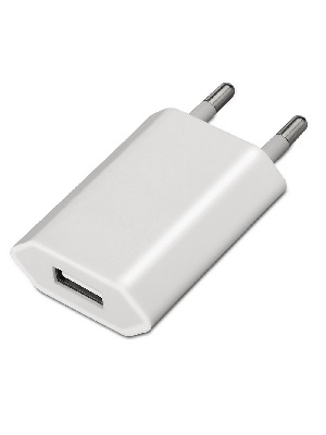 AISENS A110-0063 - Mini cargador USB (5V/1A) color blanco