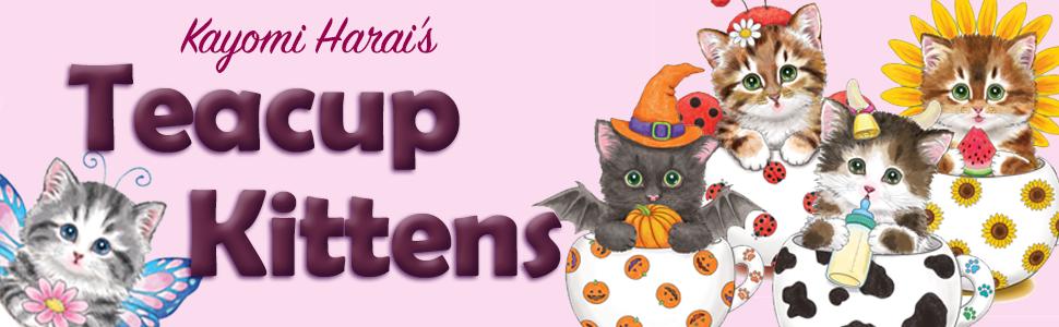 Teacup Kittens Coloring Book Design Originals 32 Adorable