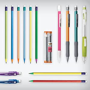 assorted bic pencils