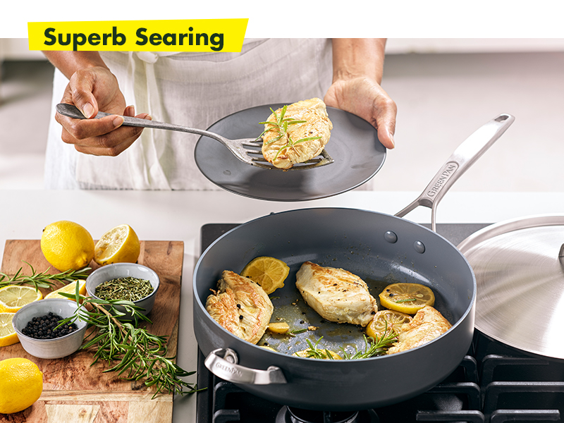 GreenPan, Paris Pro, Healthy Ceramic Nonstick, Cookware set, frying pan, hard anodized, durable