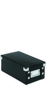 Holds 1,100 5 x 8 Cards, Snap-N-Store SNS01647 Collapsible Index Card File Box