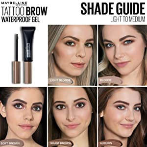 7dc3b4d7b45 Maybelline Tattoo Brow Waterproof Gel, 05 Chocolate: Amazon.co.uk ...