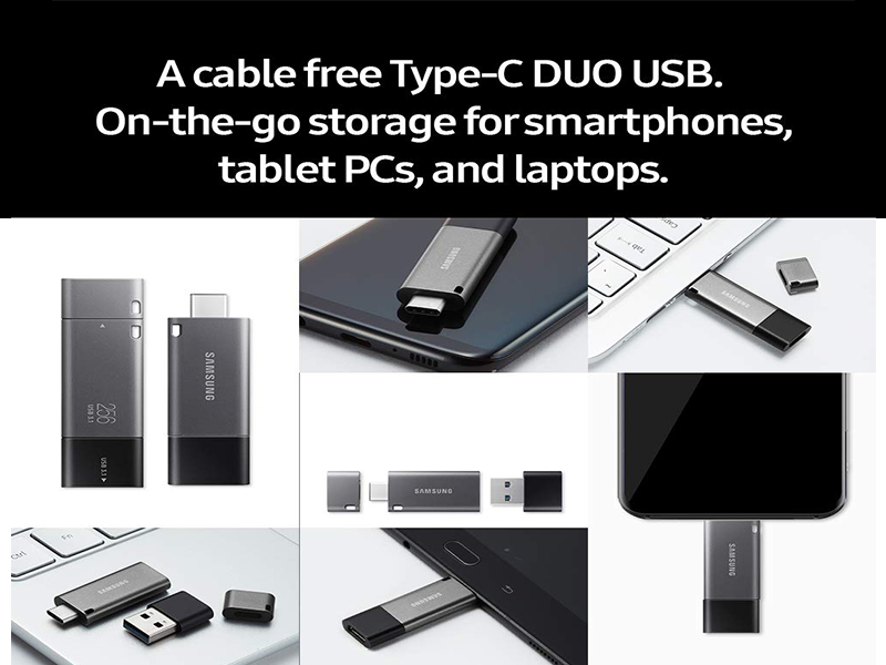 Samsung USB 3.1 Flash Drive DUO Plus Cable Free Type-C