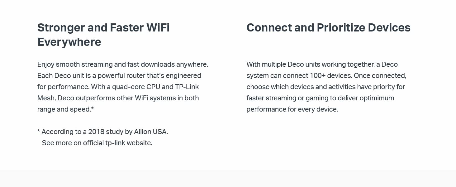 TP-Link Deco Whole Home Mesh WiFi System – Homecare Support, Seamless  Roaming, Dynamic Backhaul, Adaptive Routing, Works with Amazon Alexa, Up to
