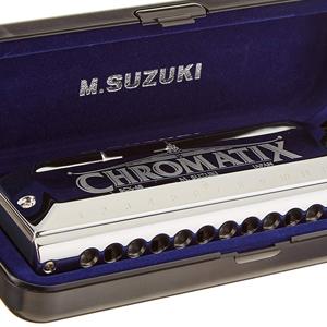 suzuki, harmonica, chromatics, chromatix, professional, 12 hole, 14 hole, 16 hole, hohner, swan, 48