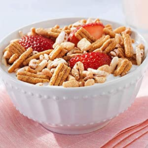 Kashi GO Original cereal tastes great with dairy or nut milk, yogurt or by itself as a snack