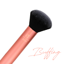 real techniques, makeup brushes, vegan makeup, buffering, 204