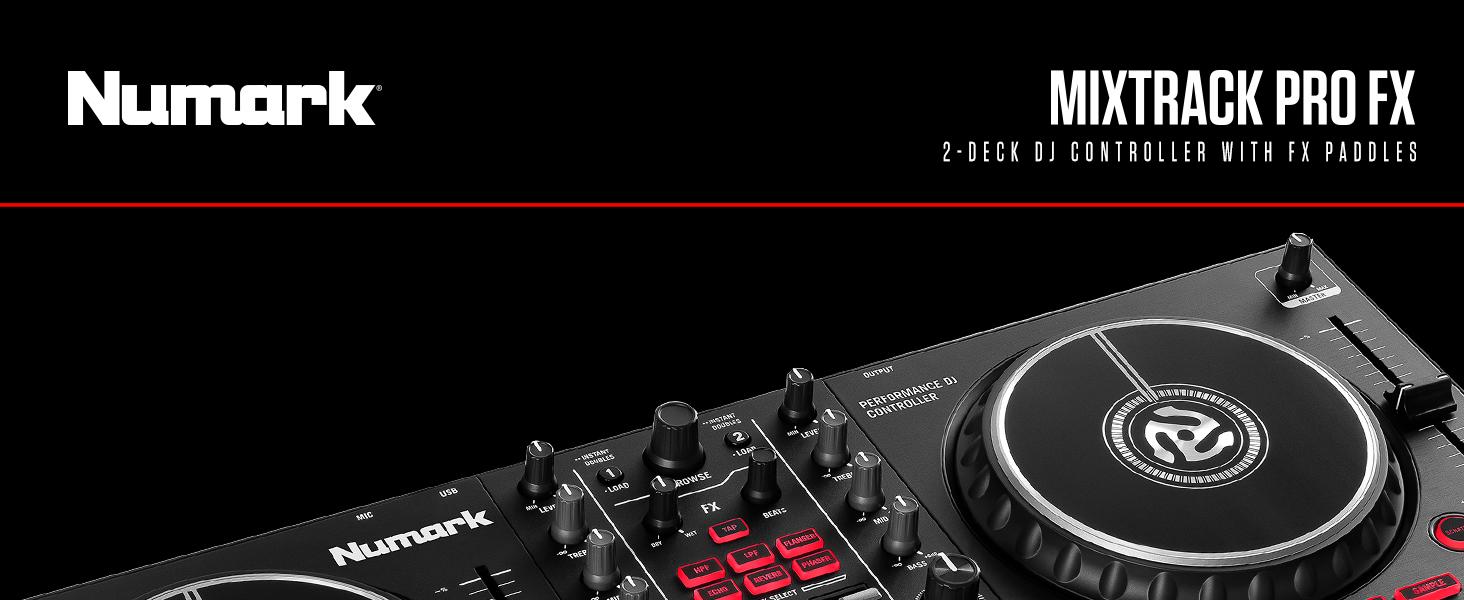 Amazon.com: Numark Mixtrack Pro FX – 2 Deck DJ Controller For ...