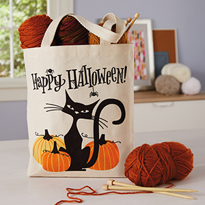 Happy Halloween Stitched Embroidered String Bag for Halloween Candies