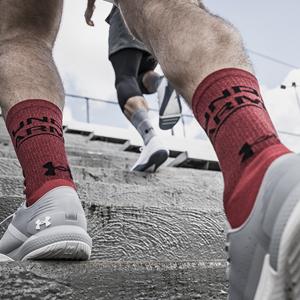 under armour, training socks, basketball socks, crew socks, red socks, black socks, gray socks