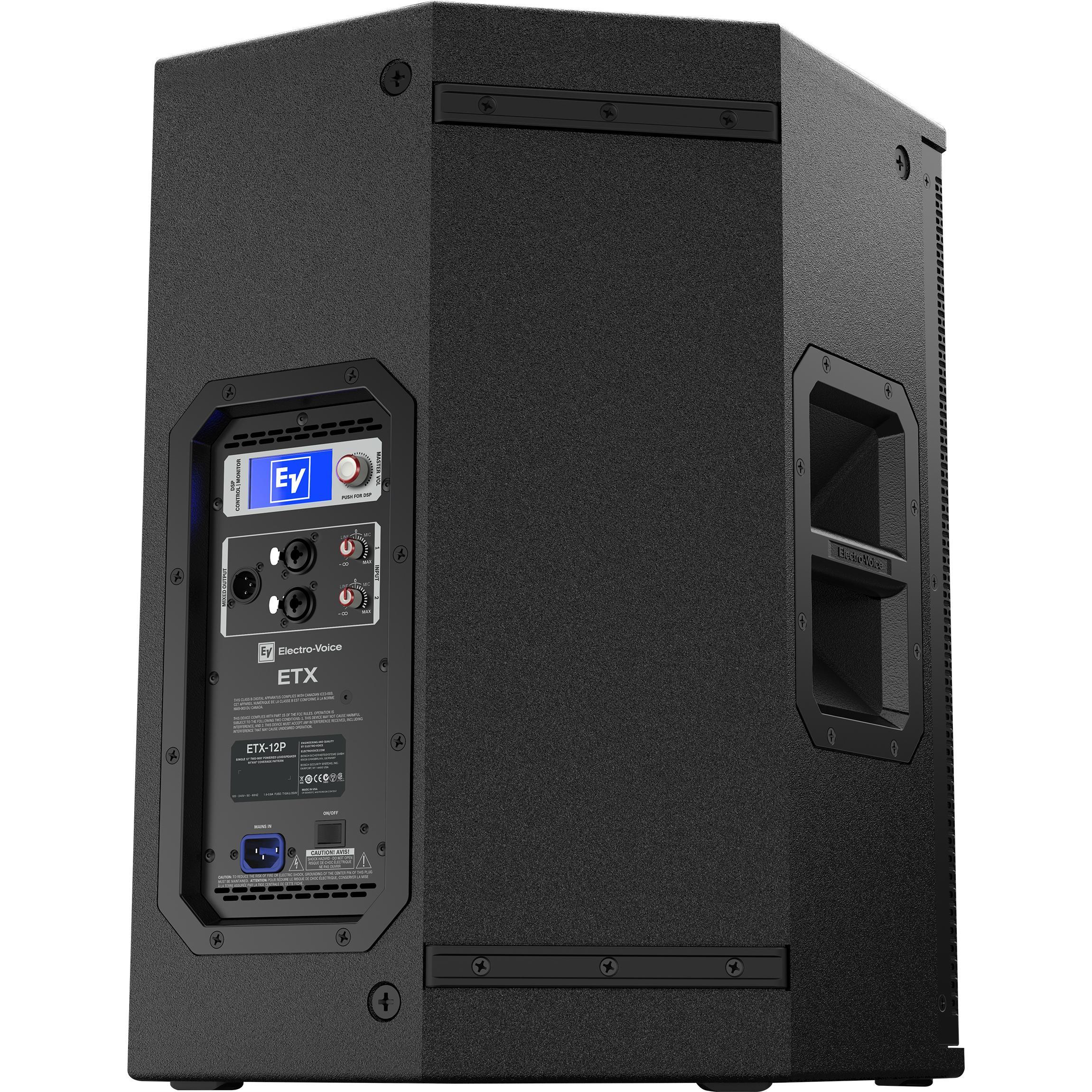 electro voice etx 12p 12 2 way 2000w full range powered loudspeaker musical. Black Bedroom Furniture Sets. Home Design Ideas