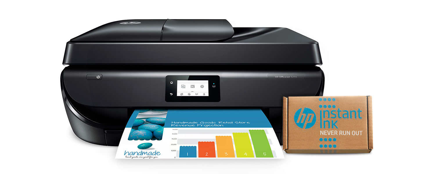 HP OfficeJet 5255 Wireless All-in-One Printer, HP Instant Ink & Amazon Dash Replenishment ready (M2U75A) and Instant Ink $5 Prepaid Code