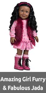 """adora, amazing girls, play doll, 18"""" dolls, american girl, cute, tween, doll, jada, african American"""