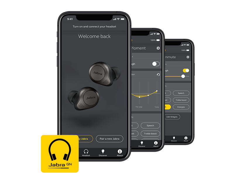 Jabra Sound+app for Jabra headphones. Personalize your music.
