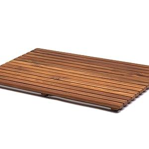 AsinoX Tarimas de Ducha y baño, Madera, Natural, 50 x 80 cm ...