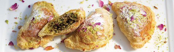 Persian dumplings, sanbouseh, turnover,