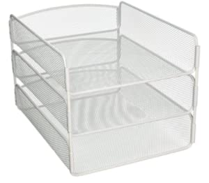 Amazon Com Safco Desk Tray Three Tiers Steel Mesh