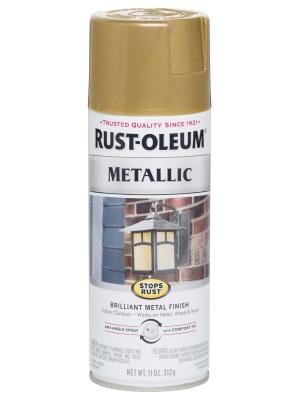 stops rust spray paint gold rush metallic