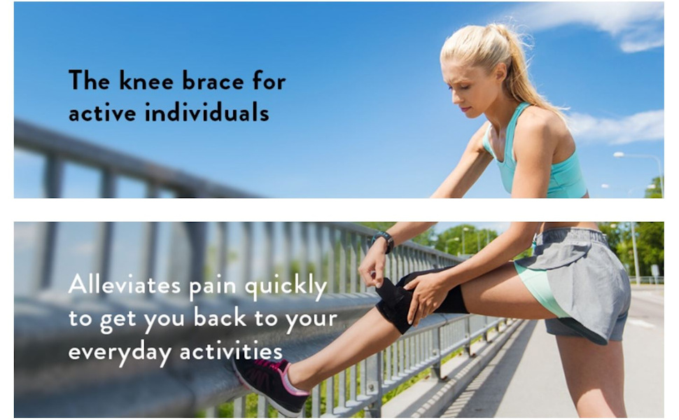 Female Jogger with ComfyMed WinZone Knee Brace