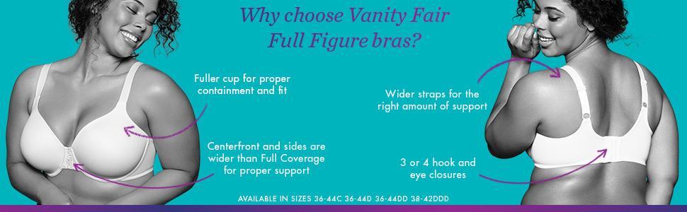 Vanity Fair Women S Beauty Back Minimizer Full Figure Underwire Bra 76080 At Amazon Women S