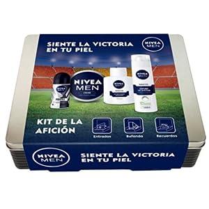 NIVEA MEN Kit de la afición con 4 productos de baño, caja de regalo para hombre con bálsamo y espuma de afeitar, crema hidratante y desodorante, set de regalo: Amazon.es: Belleza