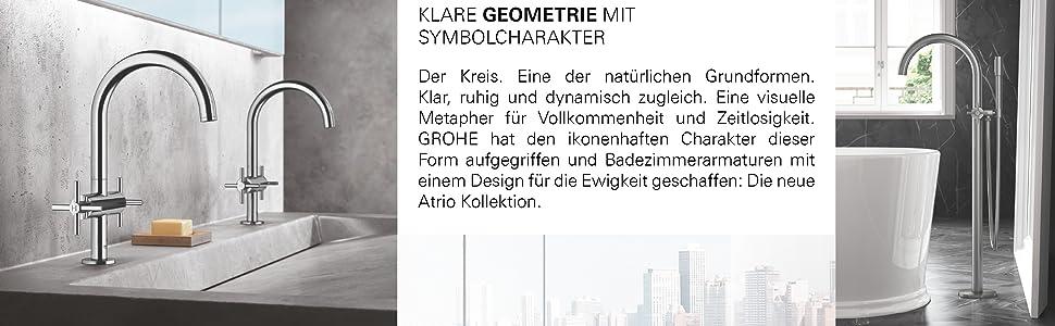 Brause-und Duschsysteme GROHE Atrio UP-Ventil Oberbau hard graphite geb/ürstet 19069AL3